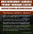 Prime Minister Crop Insurance Scheme (Fasal Bima Yojana) by Modi Government