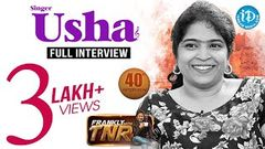 Singer Usha Exclusive Interview Frankly With TNR 40 Talking Movies With iDream 227