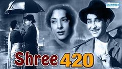 Shree 420 - Raj Kapoor Nadira and Lalita Pawar - Bollywood Evergreen Movie