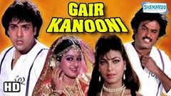 "Gair Kanooni 1989 ""Full Movie Hindi"" Govinda Rajinikanth Sridevi Kimi Katkar"