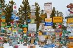 The Sign Post Forest of Watson Lake, Canada