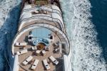 "top deck of $300 million yacht ""nirvana"""