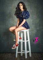 Navya Naveli modelling for  luxury fashion label called MxS