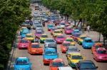 Bangkok Multi-Colored Taxis