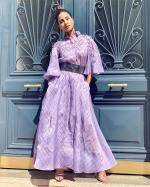 Hina Khan in lavender dress by Armine Ohanyan